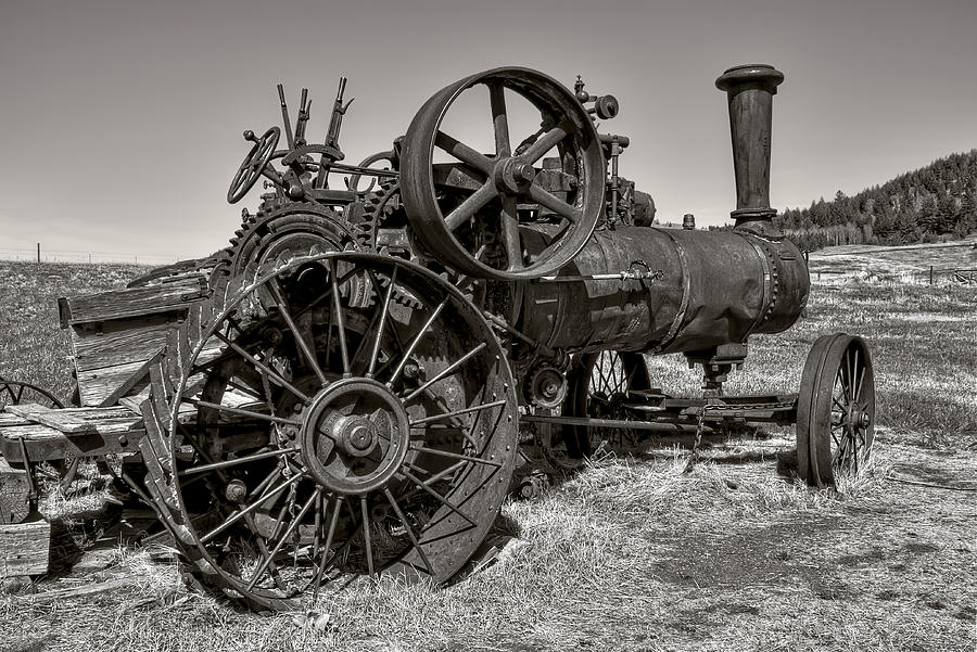Steam Tractor - Molson Ghost Town Photograph  - Steam Tractor - Molson Ghost Town Fine Art Print