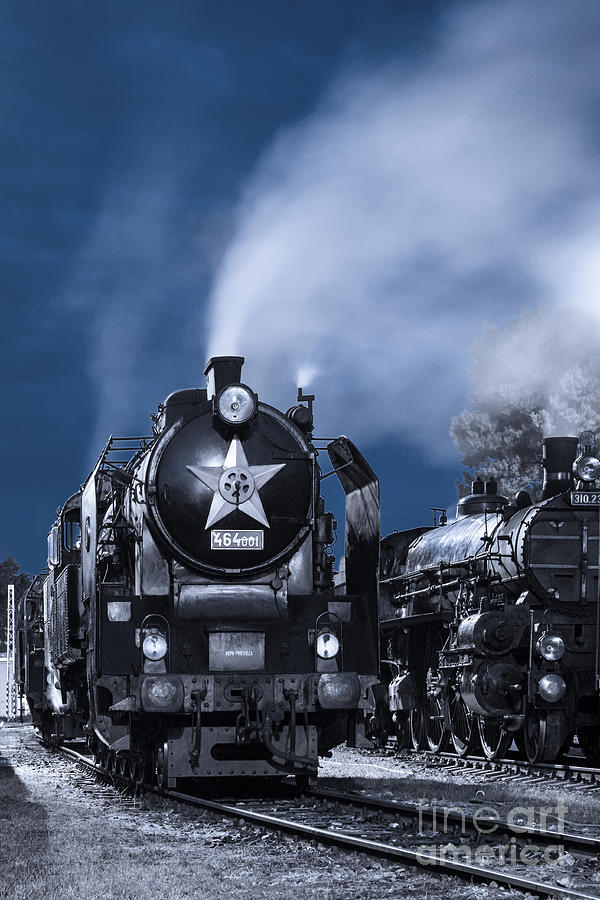 Steam Train In The Night Photograph  - Steam Train In The Night Fine Art Print