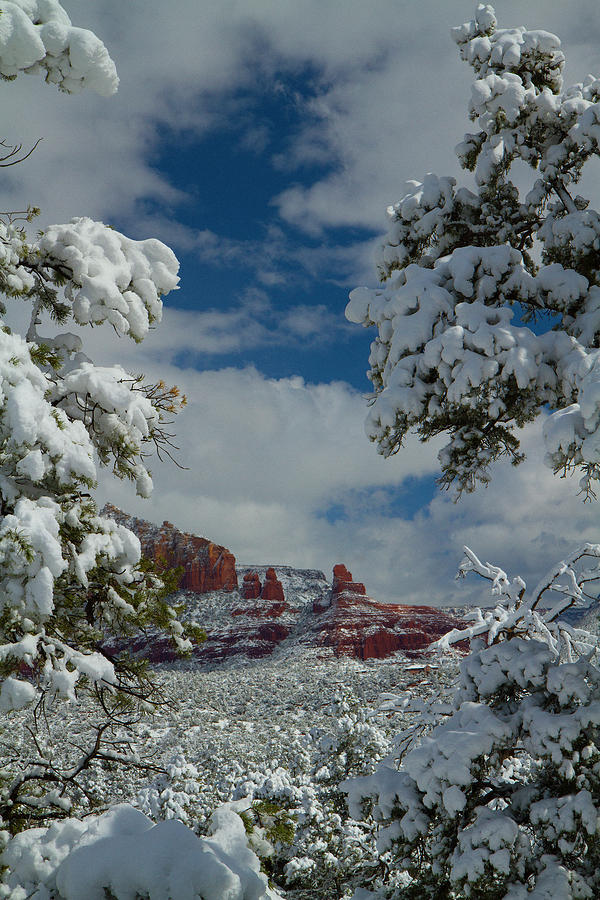 Steamboat Rock. Winter Landscape Photograph - Steamboat Beckons by Tom Kelly