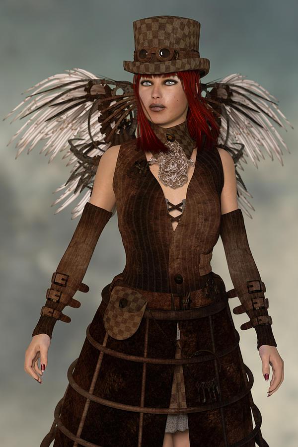 Steampunk Angel Digital Art