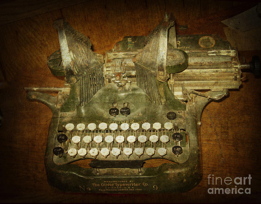 Steampunk Antique Typewriter Oliver Company Photograph  - Steampunk Antique Typewriter Oliver Company Fine Art Print