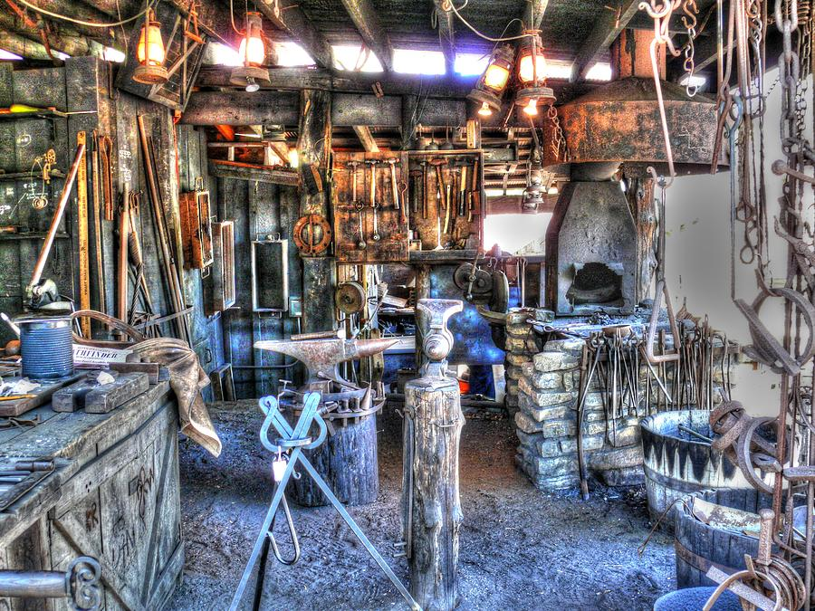 Steampunk Blacksmith Shop V1 Photograph By John Straton