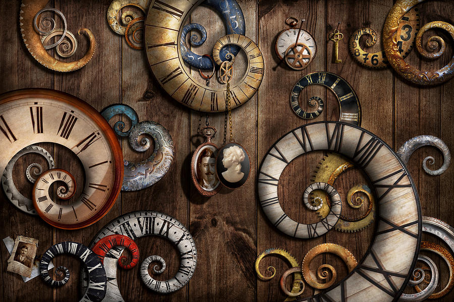 Steampunk Clock Time Machine Photograph By Mike Savad