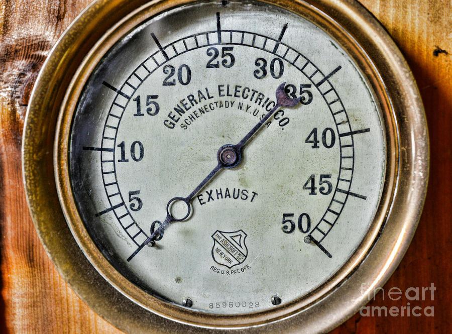 Steampunk exhaust guage photograph by paul ward - Steampunk pressure gauge ...