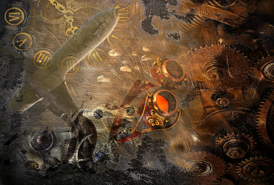 steampunk cogs abstract fantasy - photo #23