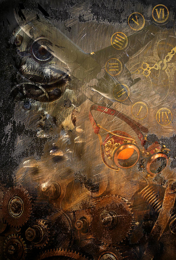 steampunk cogs abstract fantasy - photo #40