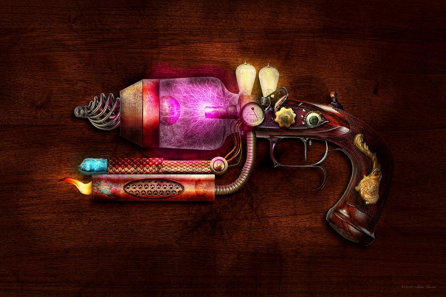 Steampunk - Gun -the Neuralizer Digital Art