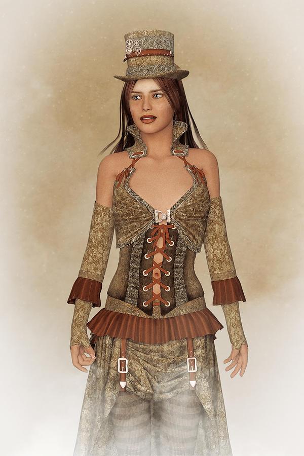 Steampunk Lady Digital Art