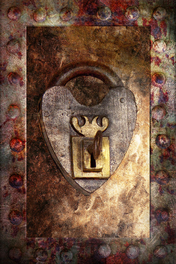 Steampunk - Locksmith - The Key To My Heart Photograph  - Steampunk - Locksmith - The Key To My Heart Fine Art Print
