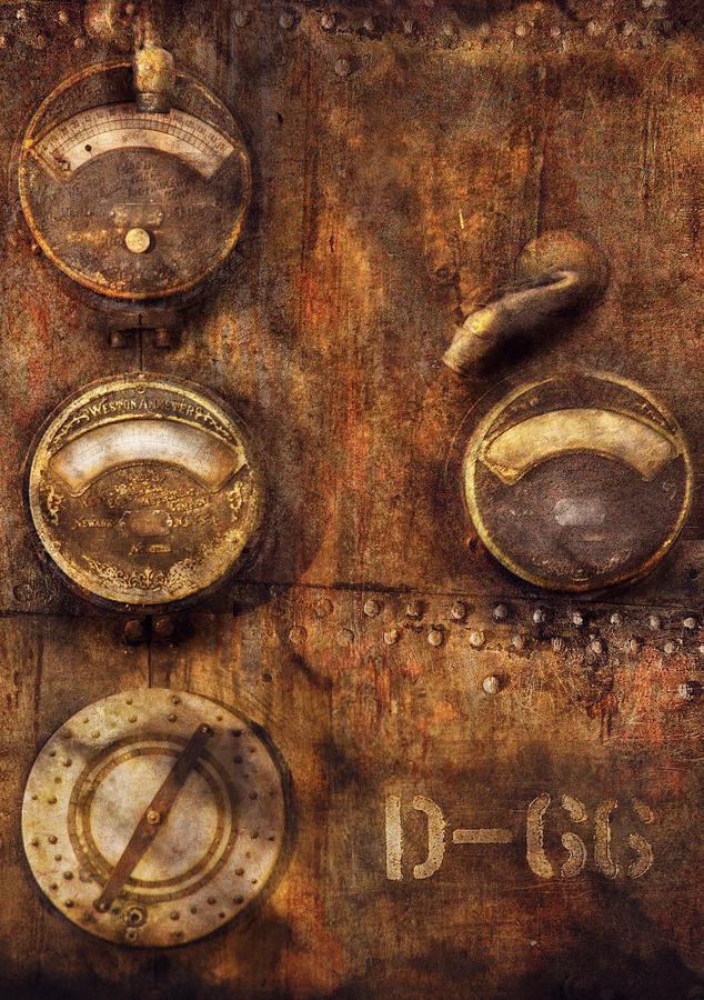 Steampunk - Meters D-66 Photograph  - Steampunk - Meters D-66 Fine Art Print