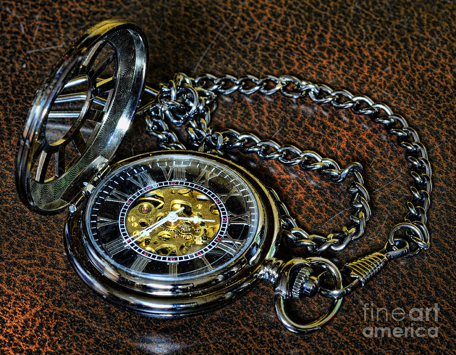 Steampunk - The Pocketwatch Photograph  - Steampunk - The Pocketwatch Fine Art Print