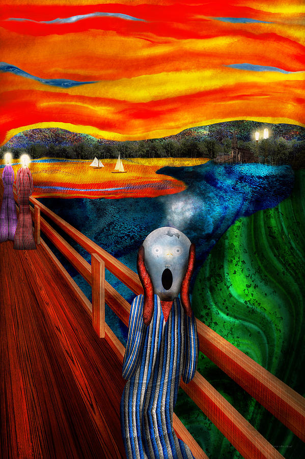 Self Digital Art - Steampunk - The Scream by Mike Savad