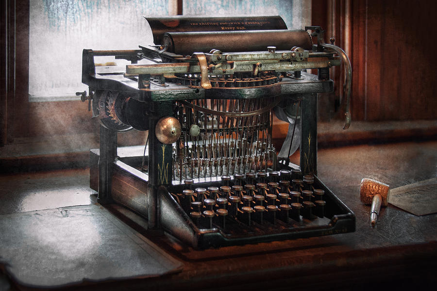 Writer Photograph - Steampunk - Typewriter - A Really Old Typewriter  by Mike Savad