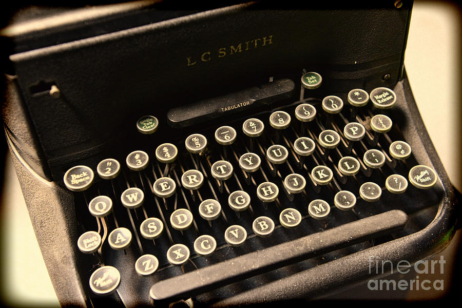 Steampunk - Typewriter - The Age Of Industry Photograph  - Steampunk - Typewriter - The Age Of Industry Fine Art Print