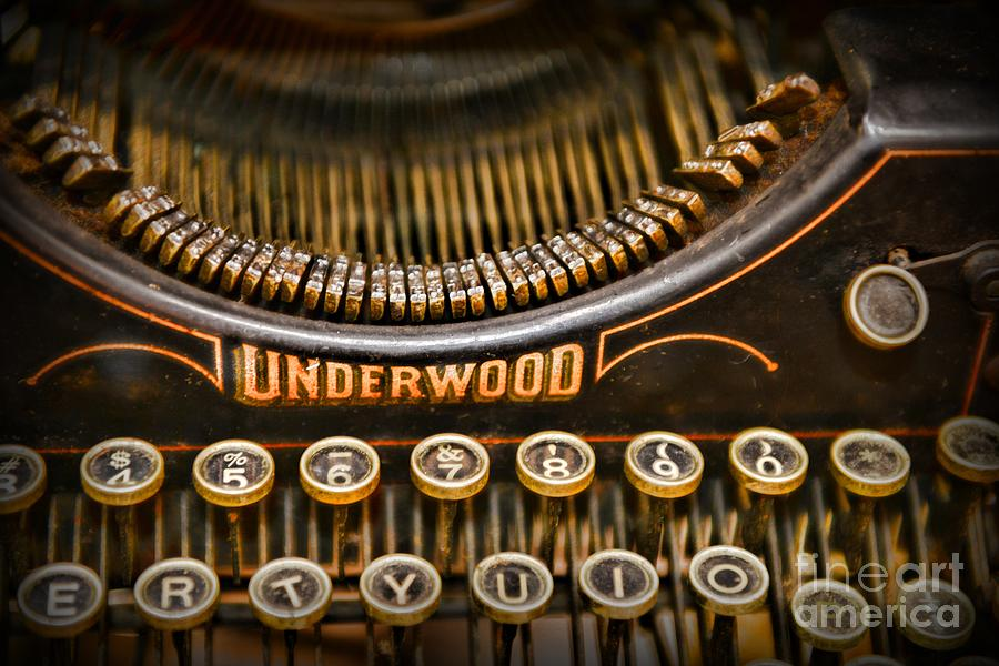 Steampunk - Typewriter - Underwood Photograph  - Steampunk - Typewriter - Underwood Fine Art Print