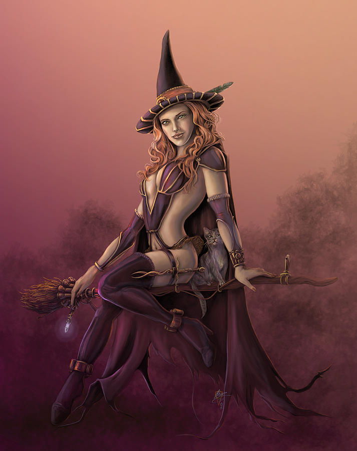 Erotic witch drawing