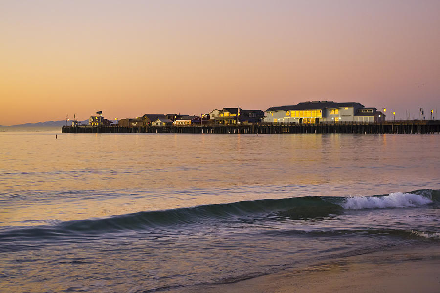 Stearns Wharf At Dawn Photograph