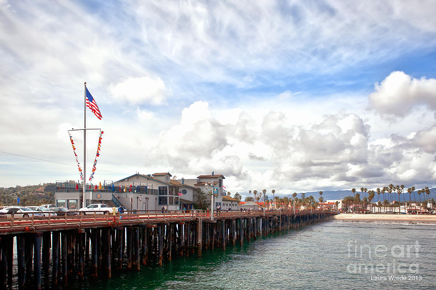 Stearns Wharf Photograph - Stearns Wharf Santa Barbara California by Artist and Photographer Laura Wrede