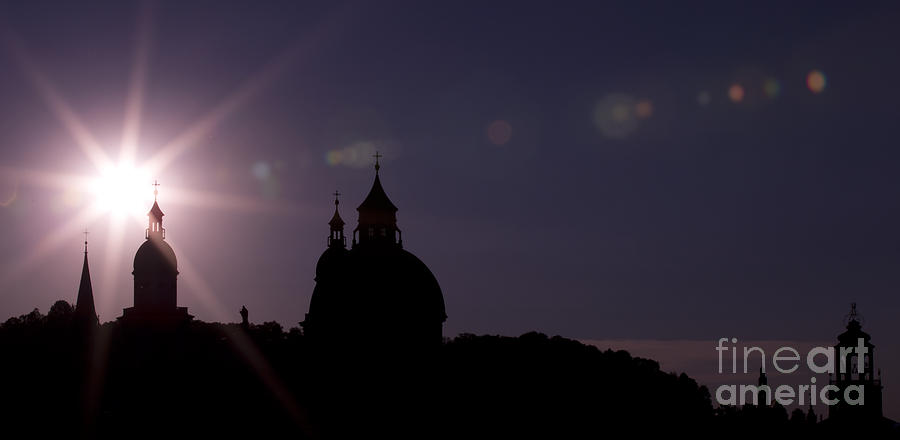 Steeples At Sunset Photograph