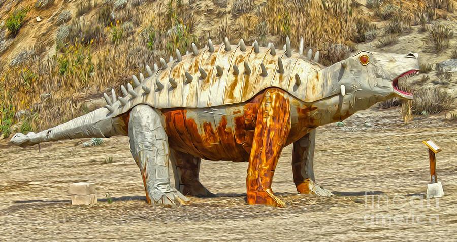 Stegosaurus Painting