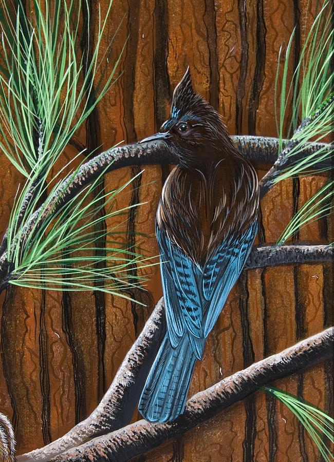 Stellar Jay Painting