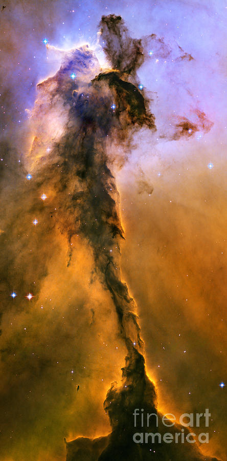 Stellar Spire In The Eagle Nebula Photograph  - Stellar Spire In The Eagle Nebula Fine Art Print