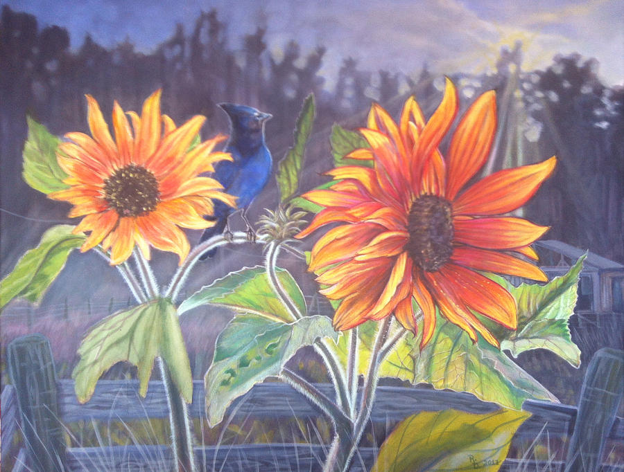 Stellar Sunflower Painting  - Stellar Sunflower Fine Art Print