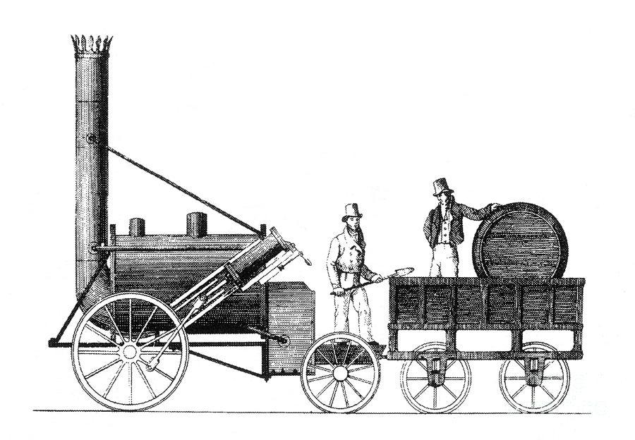 Stephensons Rocket 1829 Photograph