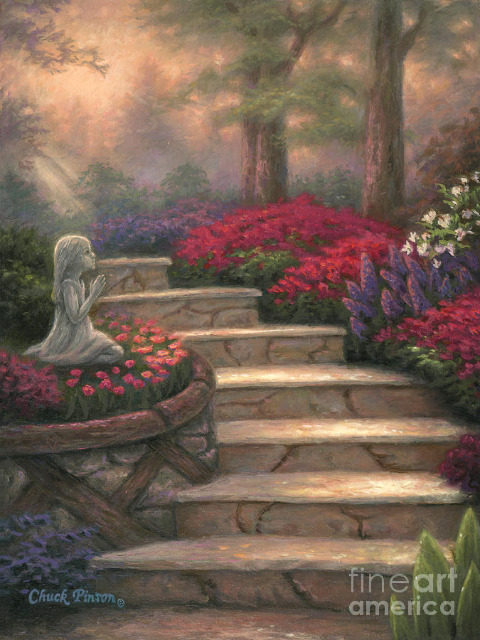 Prayer Painting - Steps Of Providence by Chuck Pinson