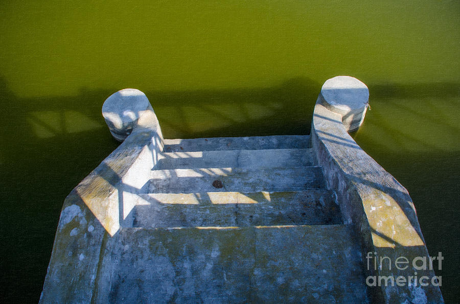 Steps To The Water Photograph