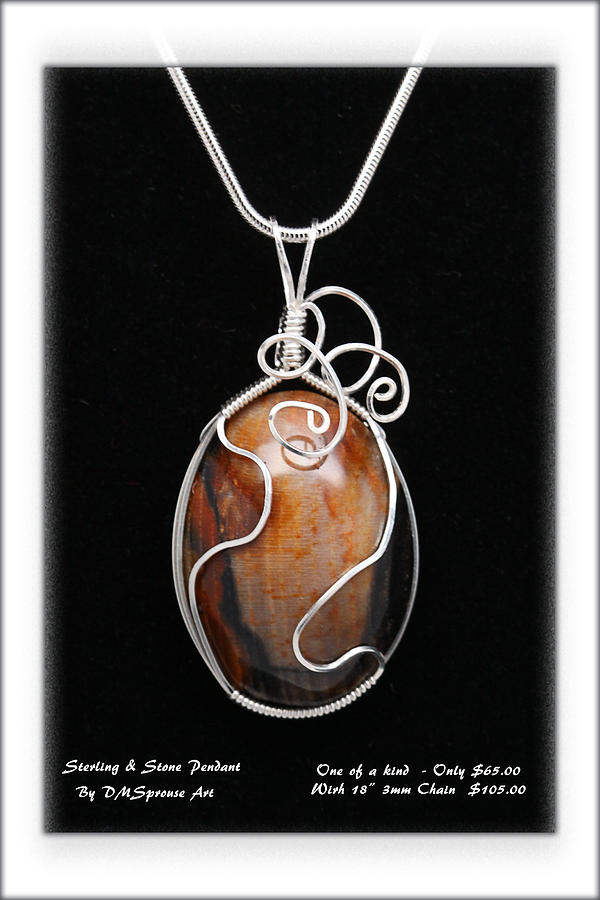 Sterling And Stone Pendant Jewelry