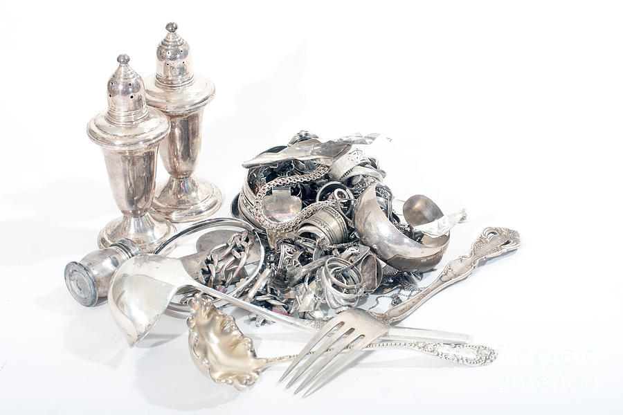 Sterling Silver Scrap Photograph  - Sterling Silver Scrap Fine Art Print