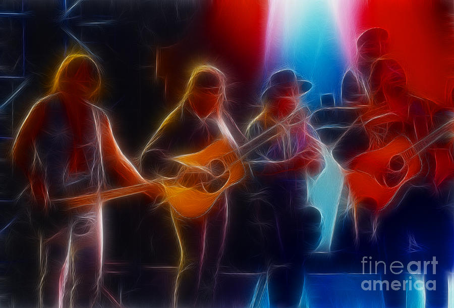 Music Photograph - Steve Miller Band Fractal by Gary Gingrich Galleries