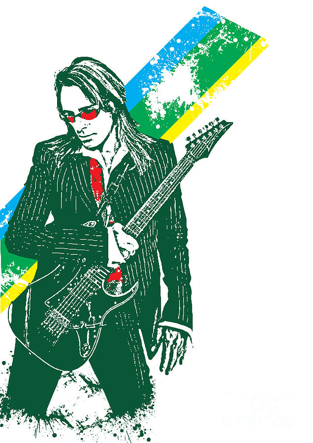 Steve Vai No.02 Digital Art  - Steve Vai No.02 Fine Art Print