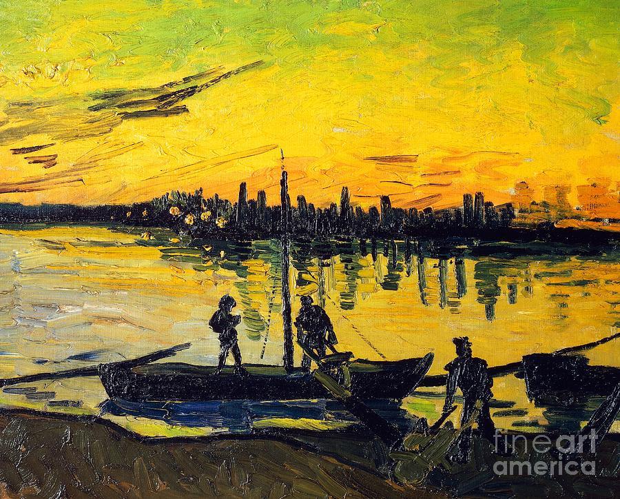 Art Painting - Stevedores In Arles by Vincent van Gogh