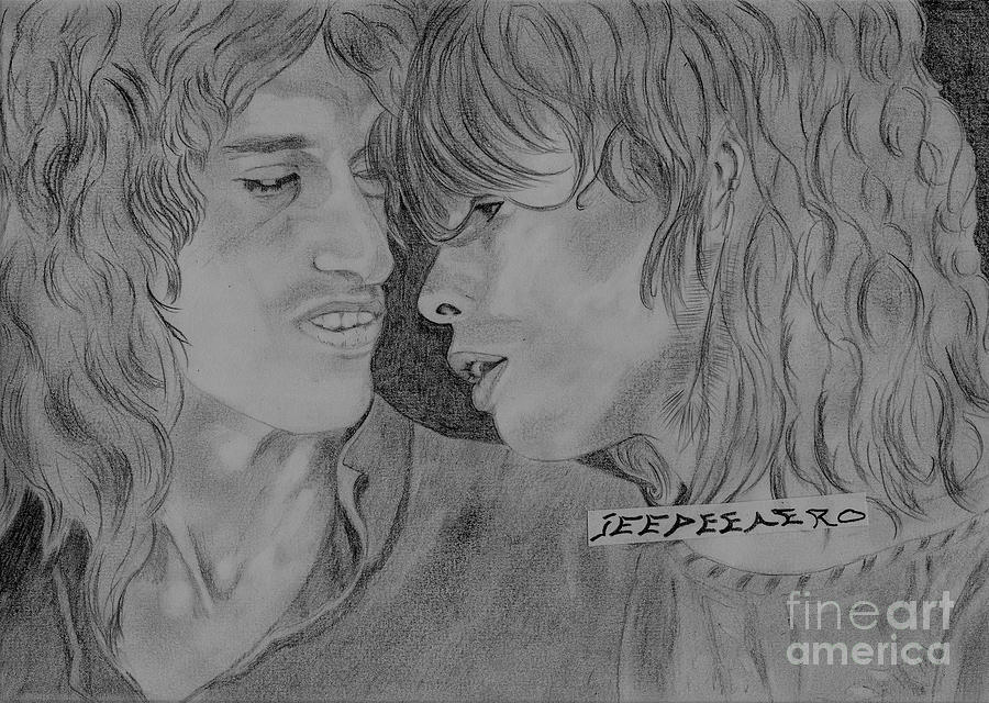 Steven Tyler Drawing - Steven Tyler And Joe Perry Image Pictures by Jeepee Aero