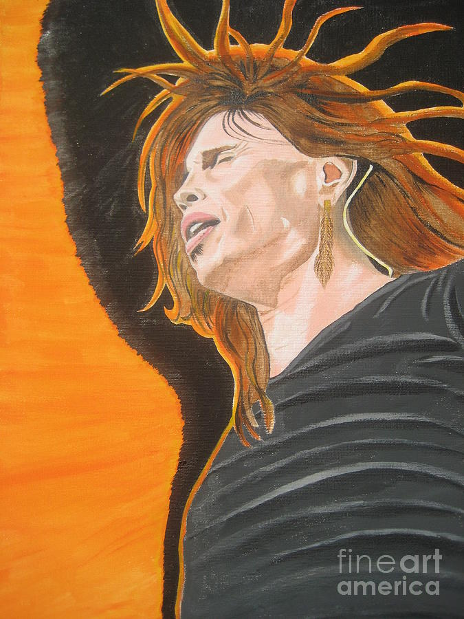 Steven Tyler Art  Painting - Steven Tyler Art Painting by Jeepee Aero