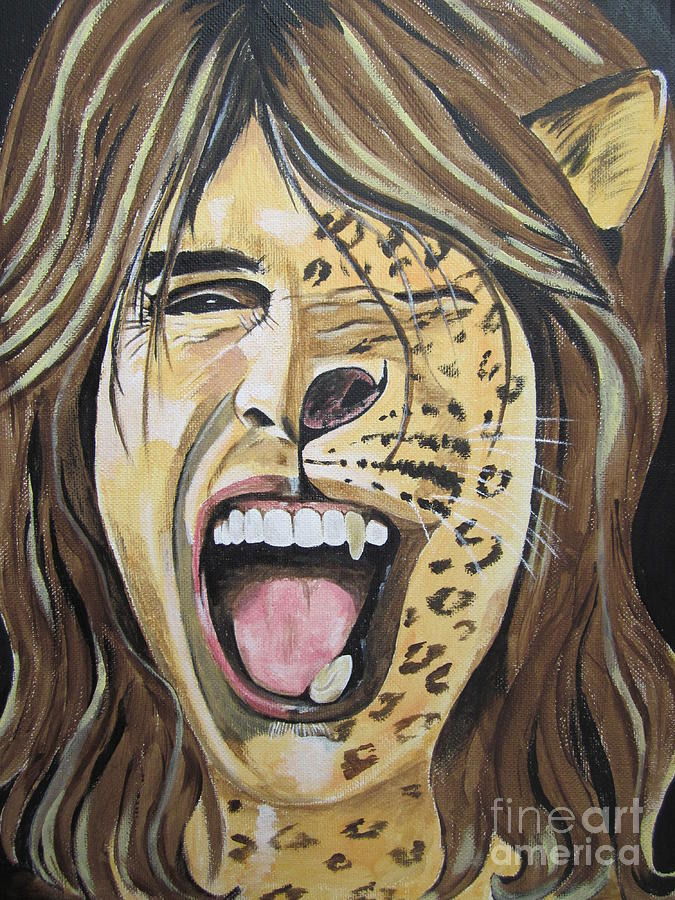 Steven Tyler As A Wild Cat Painting