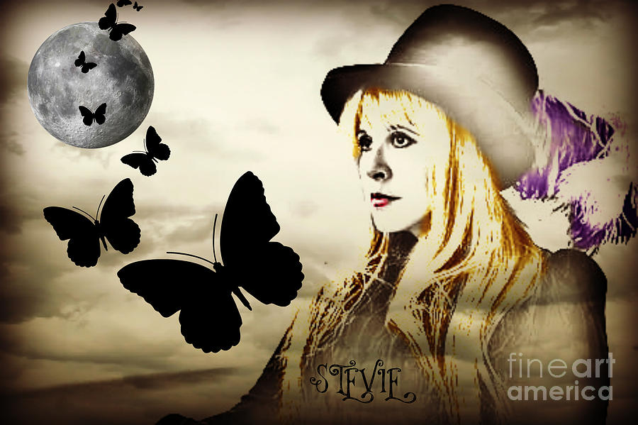 Stevie Nicks Digital Art  - Stevie Nicks Fine Art Print