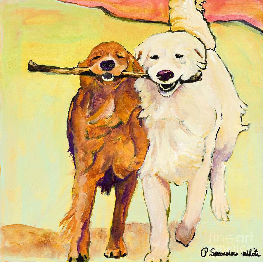 Stick With Me Painting  - Stick With Me Fine Art Print