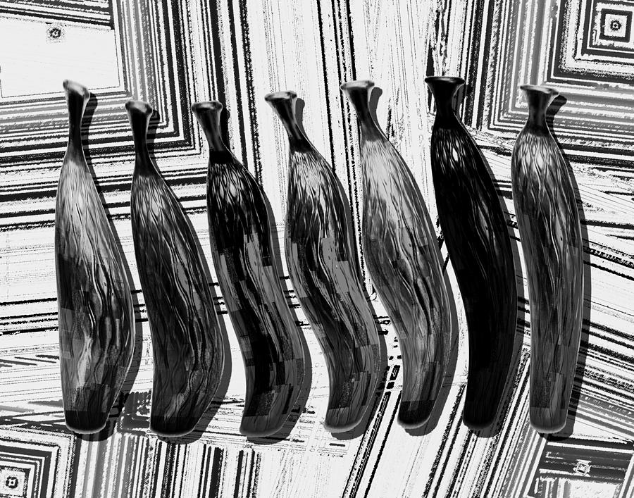 Still Life In Black And White Digital Art