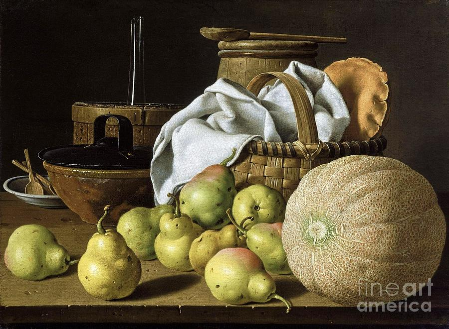 Still-life  Melon And Pears Painting