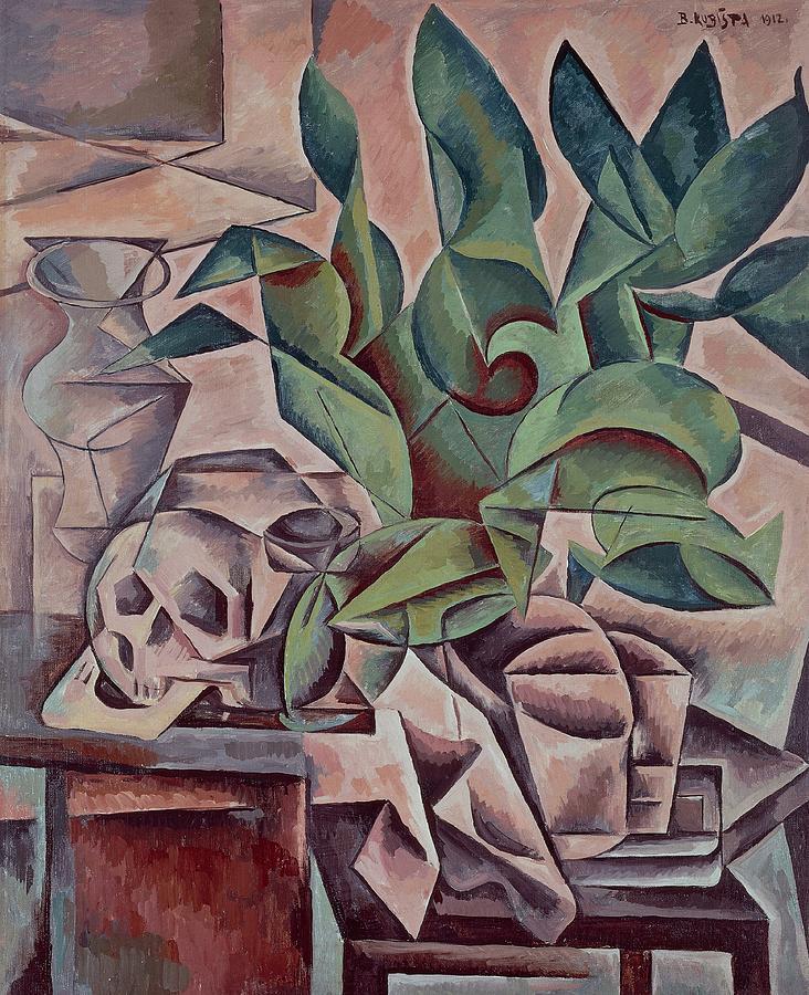 Still Life Showing Skull Painting