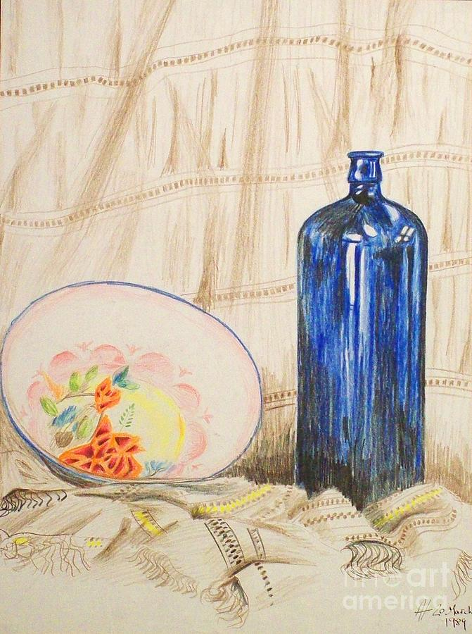Still-life With Blue Bottle Drawing