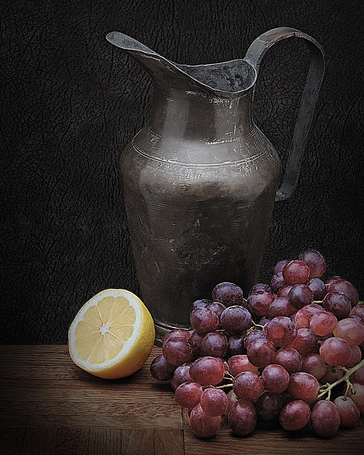 Still Life With Grapes Photograph  - Still Life With Grapes Fine Art Print