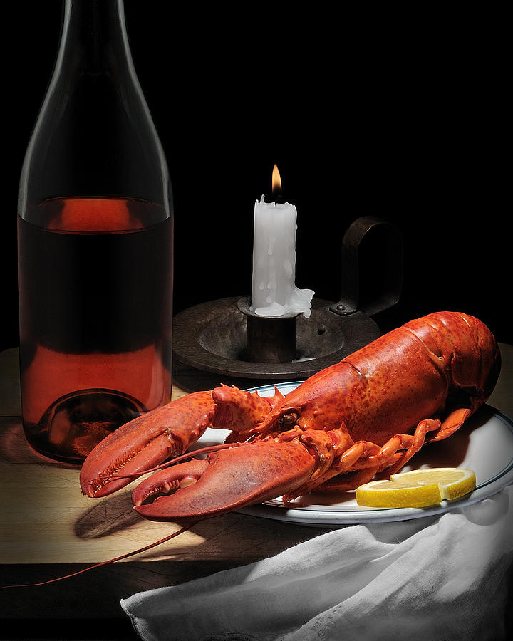 Still Life With Lobster Photograph  - Still Life With Lobster Fine Art Print