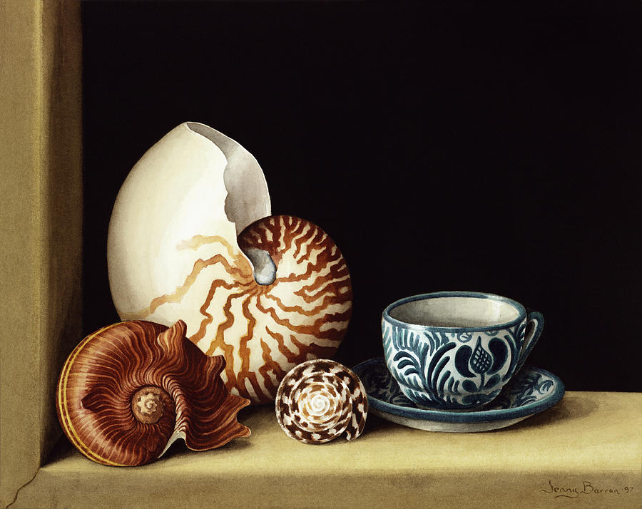 Still Life With Nautilus Painting  - Still Life With Nautilus Fine Art Print