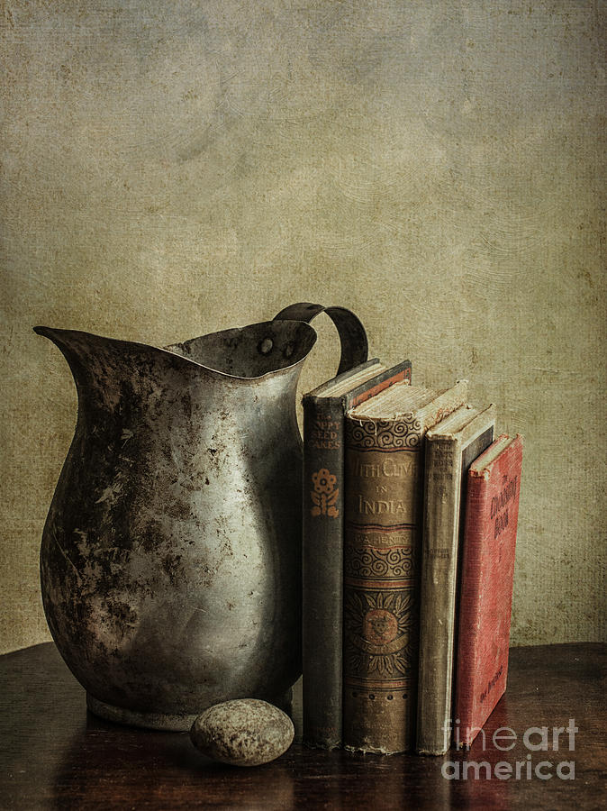 Books Photograph - Still Life With Pitcher by Terry Rowe