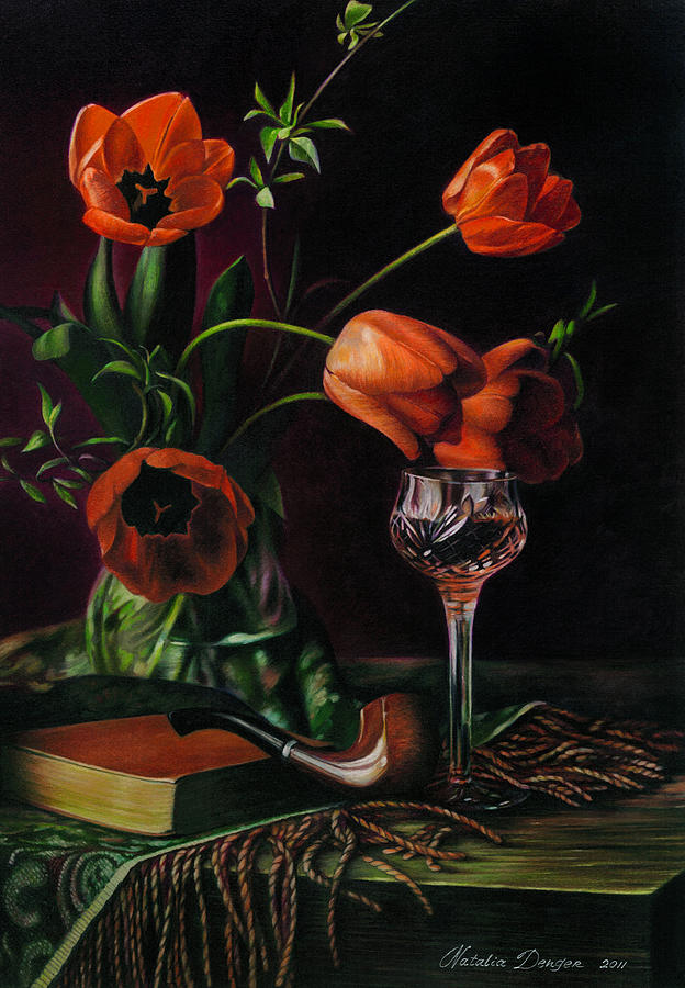 Still Life With Tulips - Drawing Drawing