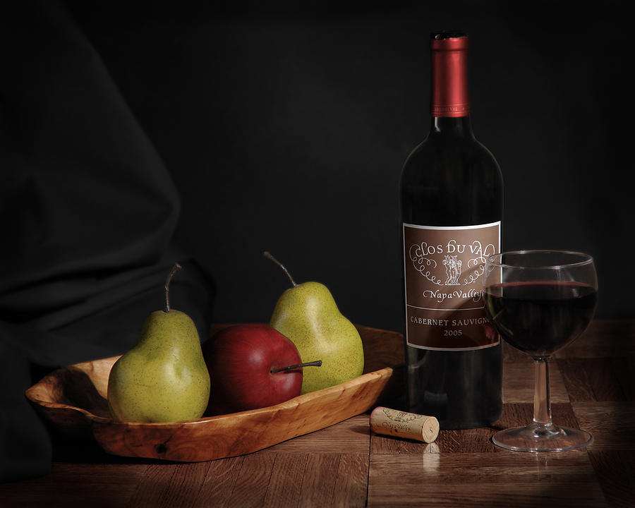 Still Life With Wine Bottle Photograph